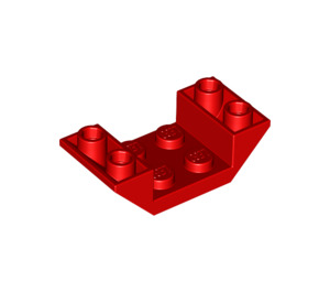 LEGO Red Slope 45° 4 x 2 Double Inverted with Open Center (4871)