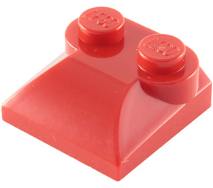 LEGO Red Slope Curved 2 x 2 with Curved End (47457)