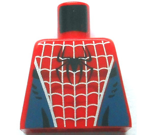 LEGO Spider-Man Torso with Silver Web and Black Spider on Front and Red Spider on Back (973)