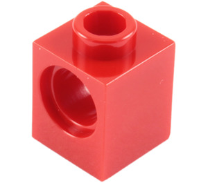 LEGO Red Technic Brick 1 x 1 with Hole (6541)