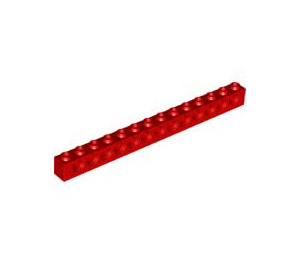 LEGO Red Technic Brick 1 x 14 with Holes (32018)