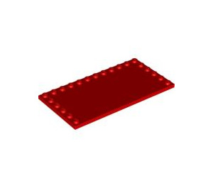 LEGO Red Tile 6 x 12 with Edge Studs (6178)
