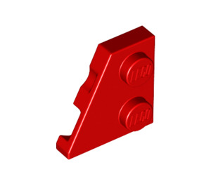LEGO Red Wedge Plate 2 x 2 (27°) Left (24299)