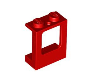 LEGO Red Window 1 x 2 x 2 with 2 Holes in Bottom (2377)