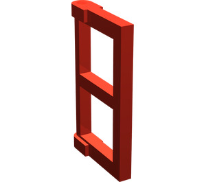 LEGO Red Window 1 x 2 x 3 Pane with Thick Corner Tabs