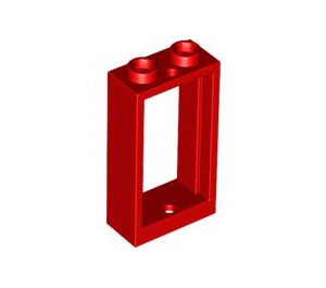 LEGO Red Window 1 x 2 x 3 without Sill (60593)
