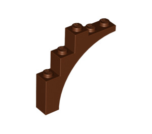 Lego Part 6044725 Arch Half Brick 1x5x4 Reddish Brown 14395 X 2 Parts
