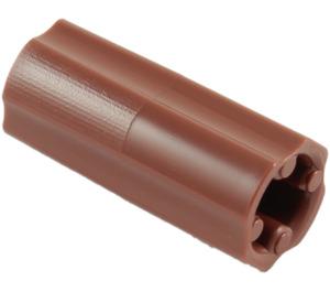 LEGO Brun rougeâtre Essieu Connecteur (Lisse avec trou 'x') (59443)