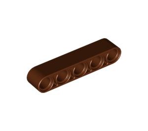 LEGO Reddish Brown Beam 5 (32316)