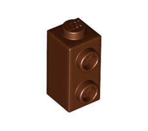 LEGO Reddish Brown Brick 1 x 1 x 1.3 with Two Side Studs (32952)