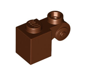 LEGO Reddish Brown Brick 1 x 1 x 2 with Scroll and Open Stud (20310)