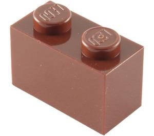 LEGO Reddish Brown Brick 1 x 2 (3004 / 93792)