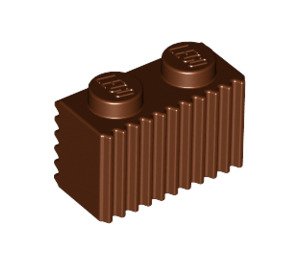 LEGO Reddish Brown Brick 1 x 2 with Grille (2877)