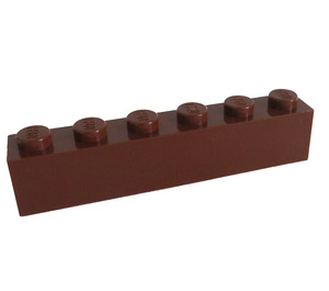 LEGO Reddish Brown Brick 1 x 6 (3009)