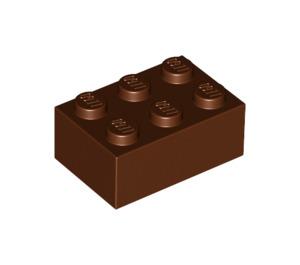 LEGO Reddish Brown Brick 2 x 3 (3002)