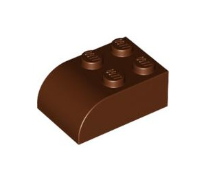 LEGO Reddish Brown Brick 2 x 3 with Curved Top (6215)