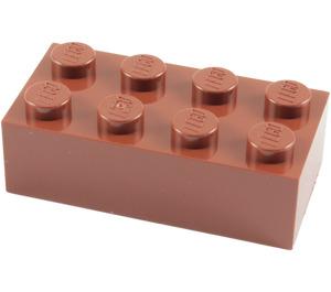 LEGO Reddish Brown Brick 2 x 4 (3001)