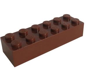 LEGO Reddish Brown Brick 2 x 6 (2456 / 44237)