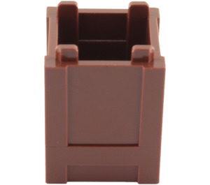 LEGO Reddish Brown Container 2 x 2 x 2 Crate (61780)