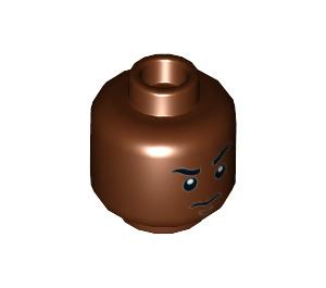 LEGO Reddish Brown Finn Plain Head (Recessed Solid Stud) (23952)