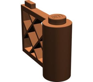LEGO Reddish Brown Gate 1 x 3 x 2