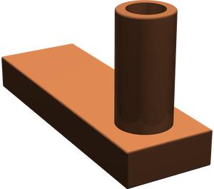 LEGO Reddish Brown Gate 1 x 3 x 2 Base