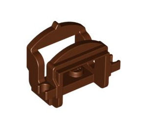 LEGO Reddish Brown Horse Saddle with Two Clips (Flat Fronted Clips) (4491)