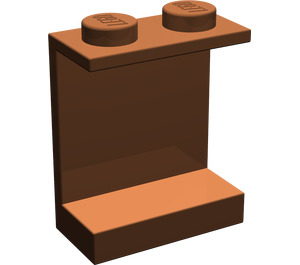 LEGO Reddish Brown Panel 1 x 2 x 2 without Side Supports, Solid Studs (4864)