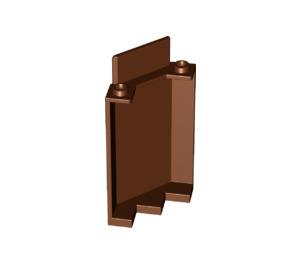 LEGO Reddish Brown Panel Wall 3 x 3 x 6 Corner without Bottom Indentations (87421)