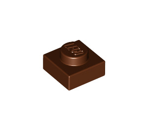 LEGO Reddish Brown Plate 1 x 1 (3024)