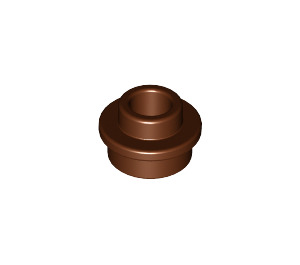 LEGO Reddish Brown Plate 1 x 1 Round with Open Stud (28626)