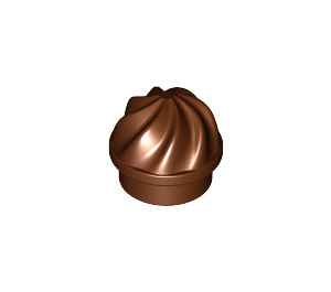 LEGO Reddish Brown Plate 1 x 1 Round with Swirled Top (15470)