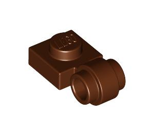LEGO Brun rougeâtre assiette 1 x 1 avec Agrafe (Anneau épais) (4081 / 41632)