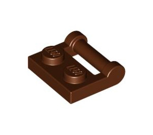 LEGO Reddish Brown Plate 1 x 2 with Handle (Closed Ends) (48336)