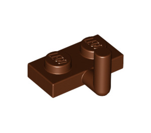 LEGO Reddish Brown Plate 1 x 2 with Hook (5mm Horizontal Arm) (43876 / 88072)
