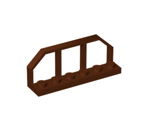 LEGO Reddish Brown Plate 1 x 6 with Train Wagon End (6583)