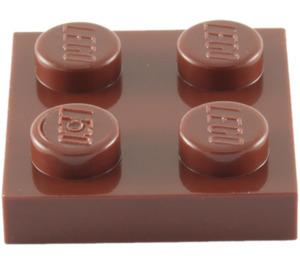 LEGO Reddish Brown Plate 2 x 2 (3022 / 94148)