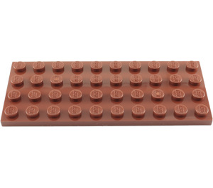 LEGO Reddish Brown Plate 4 x 10 (3030)