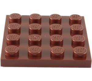 LEGO Reddish Brown Plate 4 x 4 (3031)