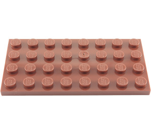 LEGO Reddish Brown Plate 4 x 8 (3035)