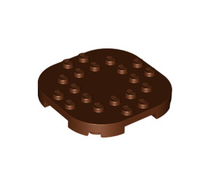LEGO Reddish Brown Plate 6 x 6 x 2/3 Circle with Reduced Knobs (66789)