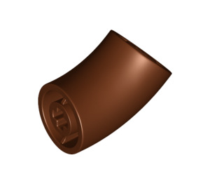 LEGO Reddish Brown Round Brick with 45 Degree Elbow (65473)
