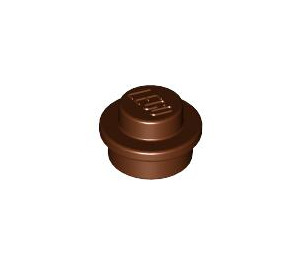 LEGO Reddish Brown Round Plate 1 x 1 (6141)