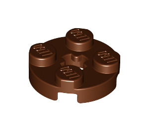 LEGO Reddish Brown Round Plate 2 x 2 with Axle Hole (with 'X' Axle Hole) (4032)