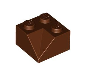 LEGO Reddish Brown Slope 2 x 2 (45°) with Double Concave (Rough Surface) (3046)   Brick Owl - LEGO Marketplace