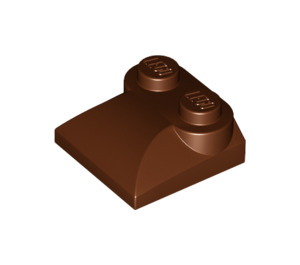 LEGO Reddish Brown Slope 2 x 2 Curved with Curved End (47457)