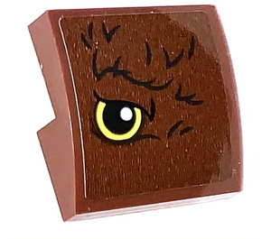 LEGO Reddish Brown Slope 2 x 2 Curved with Eye on Left Side  Sticker