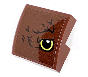 LEGO Reddish Brown Slope 2 x 2 Curved with Eye on Right Side  Sticker