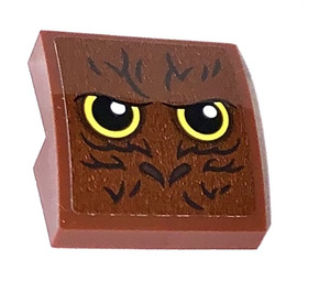 LEGO Reddish Brown Slope 2 x 2 Curved with Eyes Sticker
