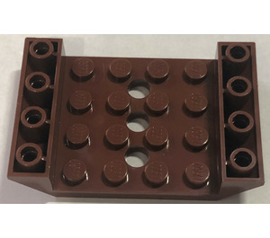 LEGO Reddish Brown Slope 45° 6 x 4 Double Inverted with Open Center 3 x Ø4.9 Holes